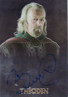 Lord of the Rings Trilogy Bernard Hill as Theoden Auto Card LotR