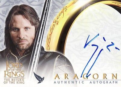 Lord of the Rings Return of the King Viggo Mortensen as Aragorn Auto Card LotR