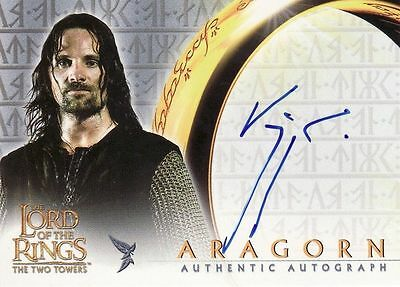 Lord of the Rings The Two Towers Viggo Mortensen as Aragorn Auto Card LotR