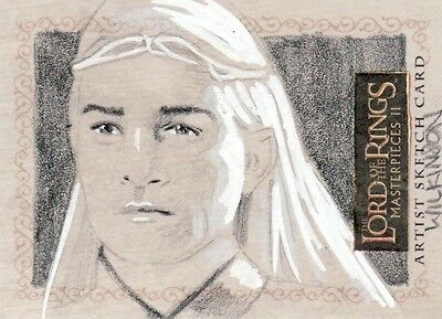 Topps Lord of the Rings Masterpieces II Sarah Wilkinson /  Celeborn Sketch Card