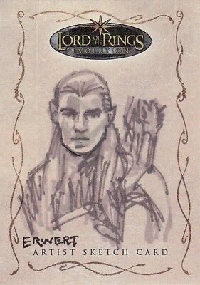 Topps Lord of the Rings Evolution Scott Ewert / Legolas Sketch Card LotR