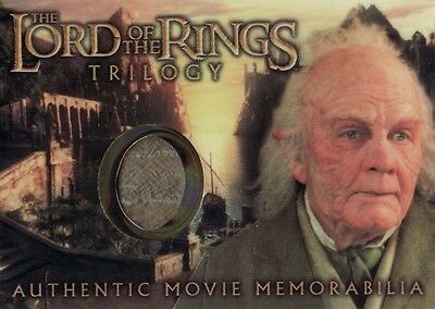 Lord of the Rings Trilogy Bilbo's Grey Havens Waistcoat Costume Card LotR