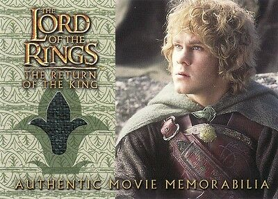 Lord of the Rings Return of the King Merry's Rohan Cloak Costume Card LotR