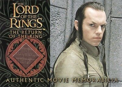 Lord of the Rings Return of the King Elrond's Bronze Silk Robe Costume Card LotR