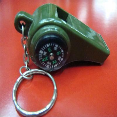 3in1 Outdoor Emergency Survival Whistle w/Thermometer Compass HOT Army Green V,