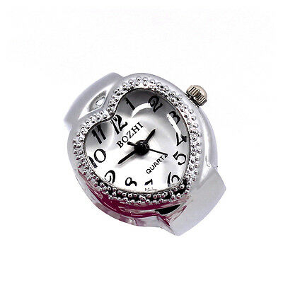 Delicate Women Ladies Heart Polka Dot Adjustable Ring Finger Quartz Watch Gifts