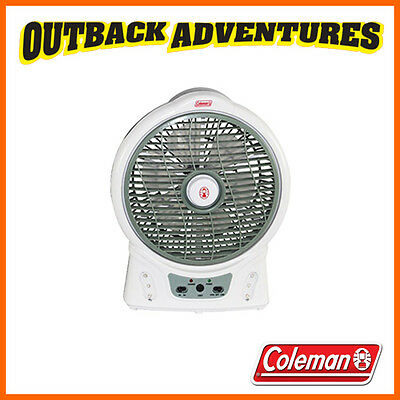 """Coleman 8"""" Fan Rechargeable Portable Camp Camping Fan With Led Light  8 Inch"""