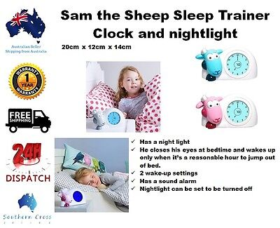 New Free Shipping Sam the Sheep Sleep Trainer Clock and nightlight