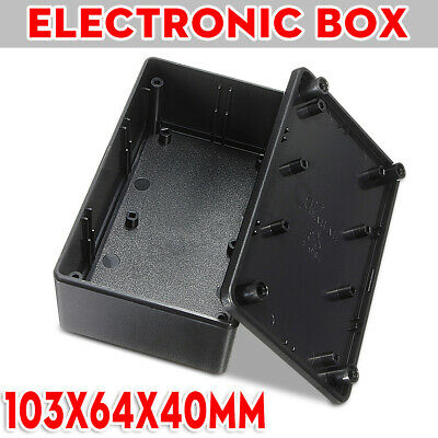 ABS Plastic Electronics Enclosure Project Box Case Black Waterproof 103x64x40mm