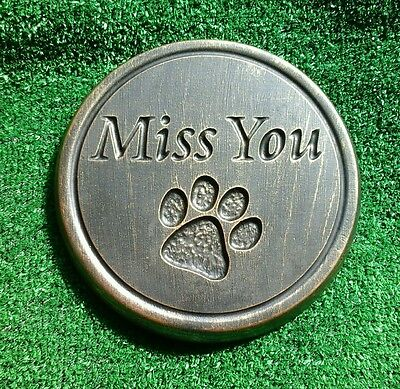 Dog or cat xl Large Pet Memorial/headstone/stone/grave marker/memorial paw  remo