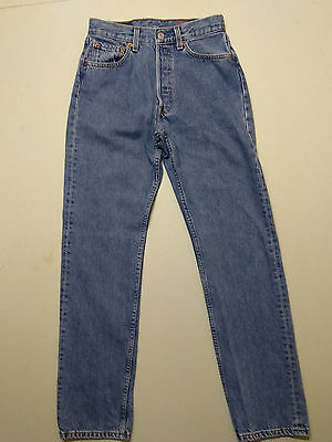 Levis Womens 501 Jeans Vintage Button Fly Blue High Waisted 28x32 made in USA
