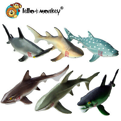 Shark Creature Toy Animal Figures set of 6 polybag buy direct from the importer
