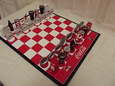 Coca Cola/Coke Chess Set  Christmas Missin Box