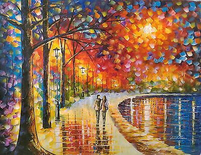 Original Oleo Sobre Tela Leonid Afremov, Spirits By The Lake 2016, Certificado