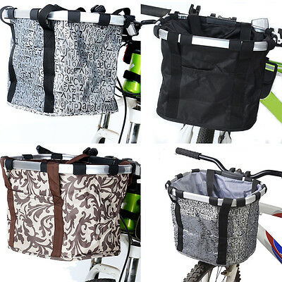Cycling Bike Bicycle Handlebar Bar Bag Front Basket Pouch Quick Release UK