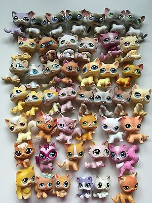 Littlest Pet Shop Lot of 45 Cats preowned