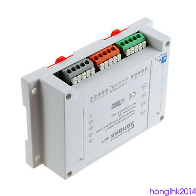 90-250v sonoff canal RF inalámbrico 2.4GHz 4CH rele interruptor control remoto
