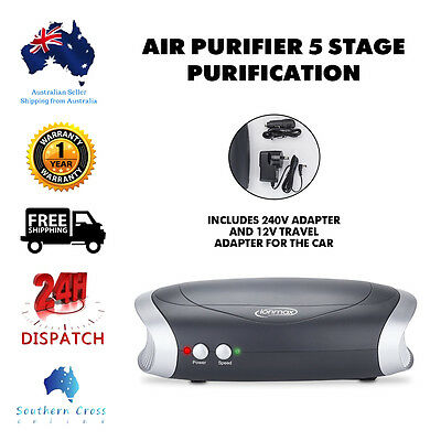 Air Purifier 5 stage Purification Ionmax Hepa Filter UV Car Home Compact Ioniser