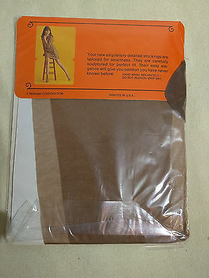 Stockings Beige Brown 10.5 Walking Sheer 30 Denier Vintage RHT Old Stock New