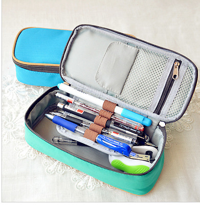 Multifunctional Retro Tether Stationery Bag Large Capacity Pen Curtain Personal