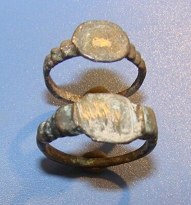 Ancient Bronze  rings  Middle Ages original