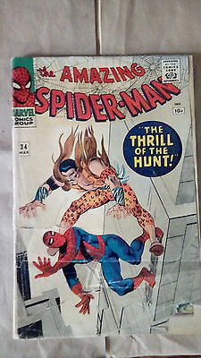 Marvel Comics The Amazing Spider-man #34 1966 FR/GD 1st print 'low grade'