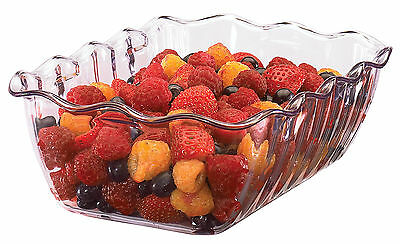 Medium Clear Salad Crock 85X260X175mm 2LTR Kitchenware Catering Bowl