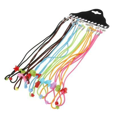 12x Colorful Children Elastic Glasses Strap Kids Eyeglass Cord Chain Holder