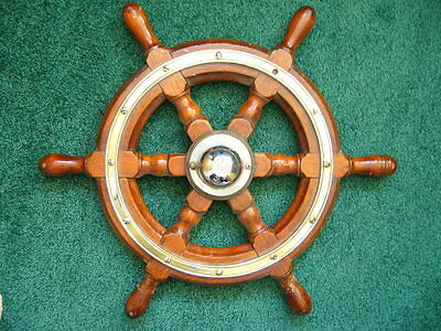 Marine Boat Nautical SHIP'S Steering WHEEL (spoked) BY SIMPSON LAWRENCE C1930'S