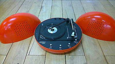 Tourne Disque Tappo Kontact Annees 70 Space Age Turntable Bsr Weltron Brionvega