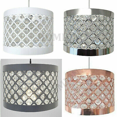 Modern Sparkly Ceiling Pendant Light Shade Jewel Lamp Easy Fit Moda Fitting New