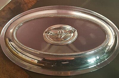 Beautiful mappin webb triple silver plated serving plate with ornate lid