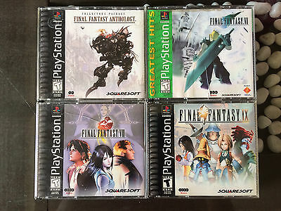 Final Fantasy 7,8,9,anthology For Sony Ps1 Original Complete