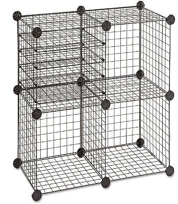 """Safco Wire Cube Shelving System Black Cube 15"""" x 15"""" and Holds up to 20 lbs"""