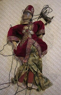 "Antique Ornate Hand Crafted Burma Marionette Yoke thé Puppet Doll 19.5"" Tall"