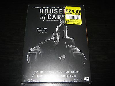 House of Cards: Season 2 (DVD, 2014, 4-Disc Set, Canadian) Brand New Sealed