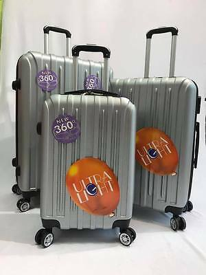 Hard Shell Suitcase ABS Set of 3pcs 4 Wheel Luggage Ultra Light wight