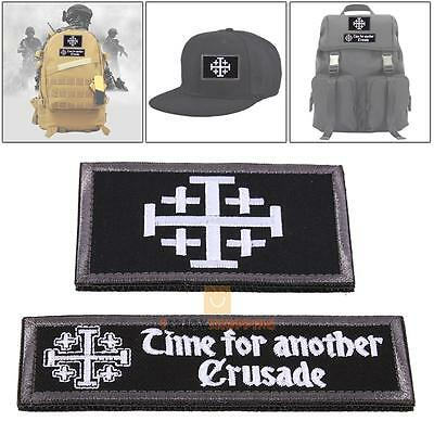 Time For Another Crusade Tactical Patch Morale Patches Hook & Loop 3D Embroidery