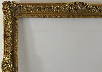 Wood frame decorated gold Inside dimension approx. 71x81 cm