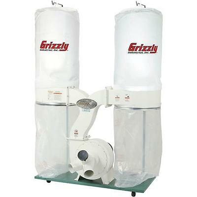 G1030Z2P Grizzly 3 HP Dust Collector with Aluminum Impeller - Polar Bear Series