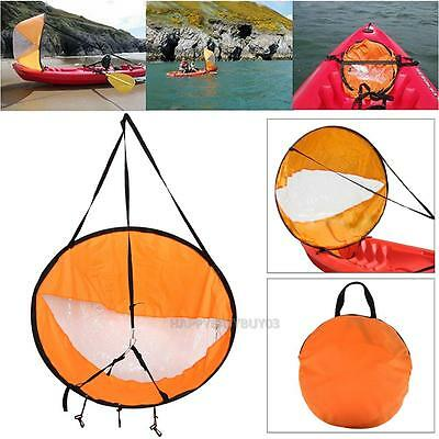 """Durable 42"""" Kayak Boat Wind Sail Sup Paddle Board Sail with Clear Window+Bag"""