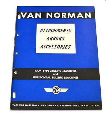 Van Norman Attchments And Accessories Brochure