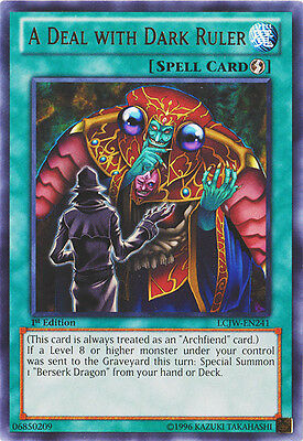 x3 A Deal with Dark Ruler - LCJW-EN241 - Rare - 1st Edition Yu-Gi-Oh! M/NM