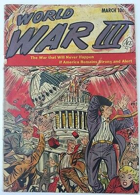 World War III #1 Ace Comics March 1953 Atom Bomb Cover Scarce