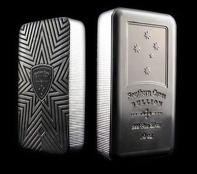 10 Oz Silver Art Bars Southern Cross Bullion Security Line Geiger Edelmetalle