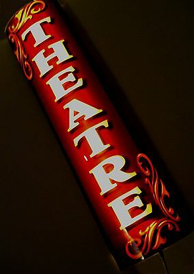 Led Lighted Theatre Sign Cinema Sign Retro Design Battery Power