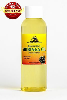 MORINGA OLEIFERA OIL ORGANIC CARRIER COLD PRESSED by H&B Oils Center PURE 2 OZ