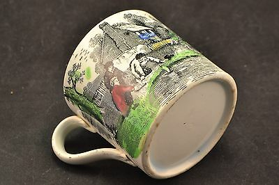 19th C. (1800s) Antique Staffordshire Pearlware Polychrome Child's Mug ND3250