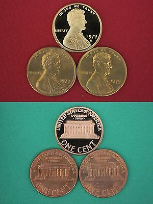1979 P D S Lincoln Memorial Cents From Proof & Mint Set Coins Combined Shipping