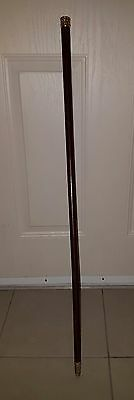 *** Rare *** vintage 1890 Schumann NY cane with 24K gold